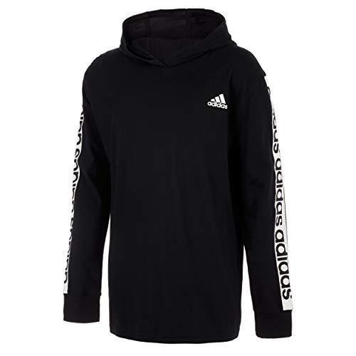adidas Boys' Long Sleeve Cotton Jersey Hooded T-Shirt Tee - Small ...