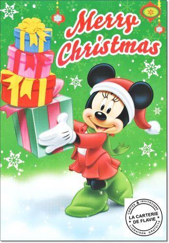 Cartes Disney Noël Minnie Offrez une vraie et jolie carte, livraison gratuite à retrouver:  #Disney #Mickey #Noël #JoyeuxNoel #Minnie