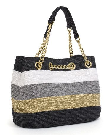 Loving this Black & Toast Chain Shoulder Bag on #zulily! #zulilyfinds