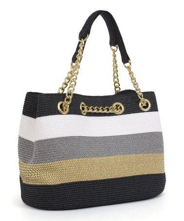 Another great find on #zulily! Black & Toast Chain Shoulder Bag #zulilyfinds