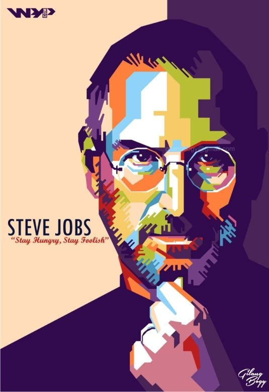 STEVE JOBS in Wedha's Pop Art Portrait | For order, contact to: gilangbogy@gmail.com