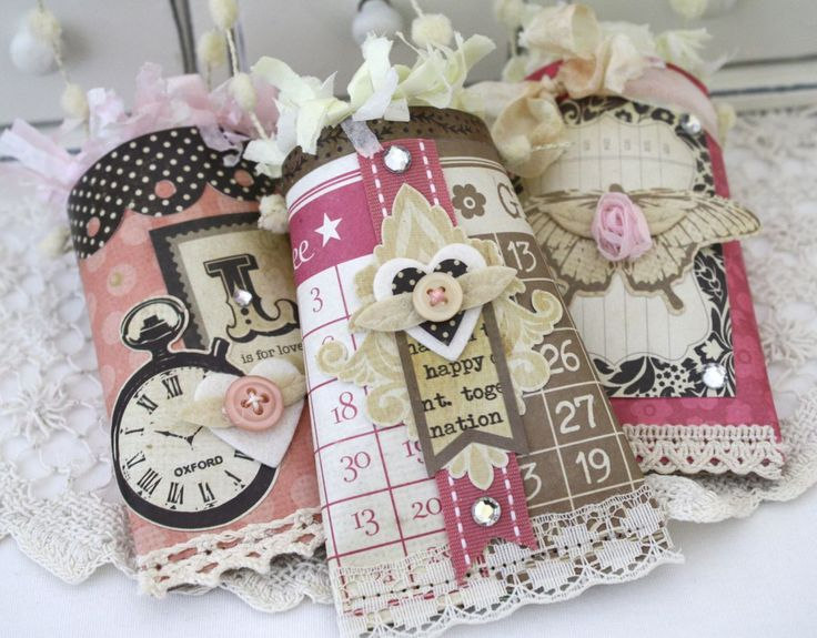I would have never thought of creating these little treat bags. A great use for all my little bits & pieces that I can't throw away. Beautiful inspiration.