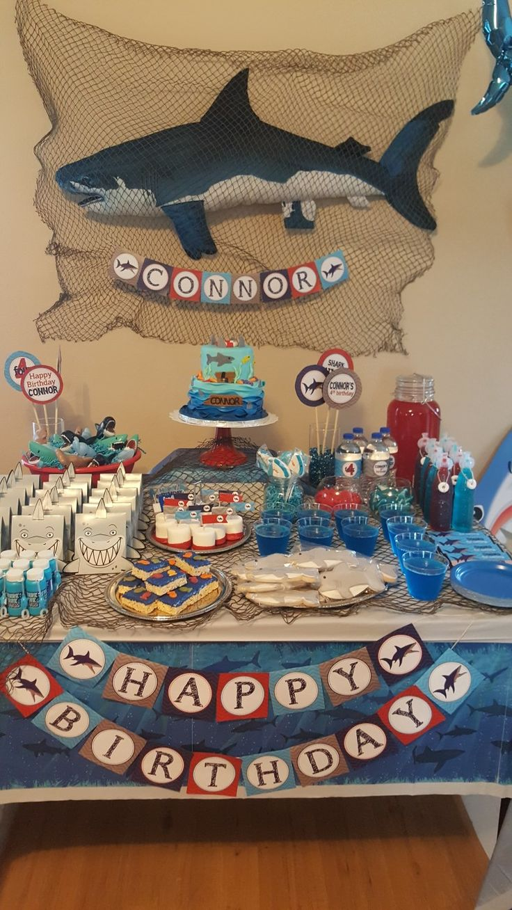 Shark themed birthday party!!!