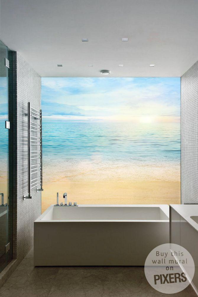 Beach U2022 Bathroom   Minimalist U2022 Pixers® U2022 We Live To Change. Beach MuralInspiration  WallMinimalist ...