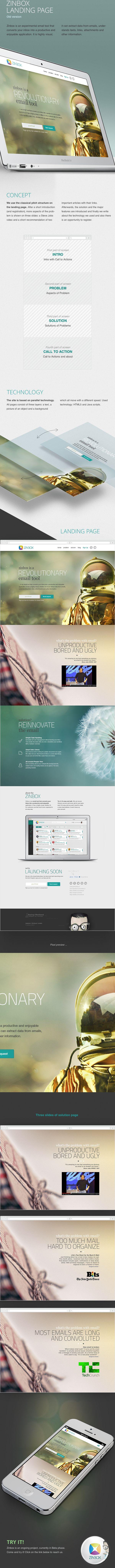 Zinbox landing page v1.1 by Vincze Istvan, via Behance