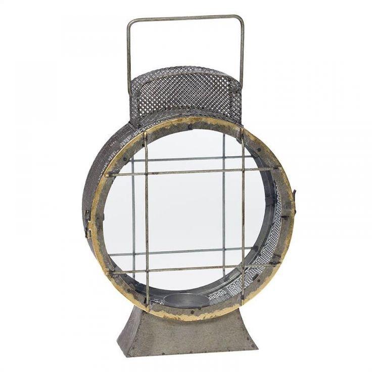 Φανάρι μεταλλικό μπρονζέ στρογγυλό με γυαλί 27Χ10Χ43 cm Διακοσμήστε το σπίτι σας με φανάριααπό το Casa di Regali και δώστε του ένα ιδιαίτερο στυλ!