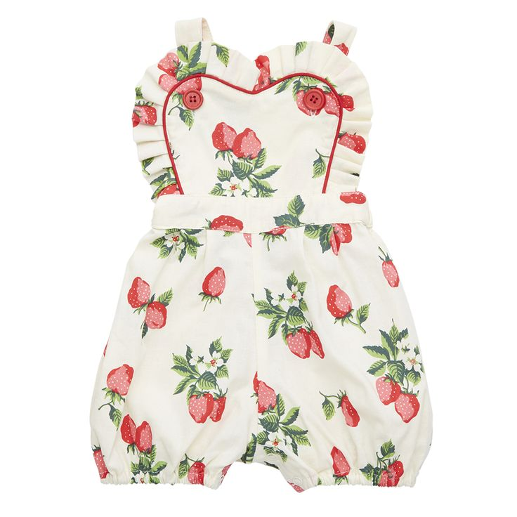 Rock Your Baby - Audrey Romper Strawberry Baby