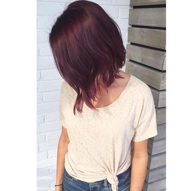 Top 100 mahogany hair color photos Velvet Velour by Bree! She is really nailing those fall colors with #colormebykm  #lovekm #toledohairstylist #toledosalon #violetred #violetredhair #mahoganyhaircolor #fallhaircolor #fallhair #fallhairtrends See more http://wumann.com/top-100-mahogany-hair-color-photos/