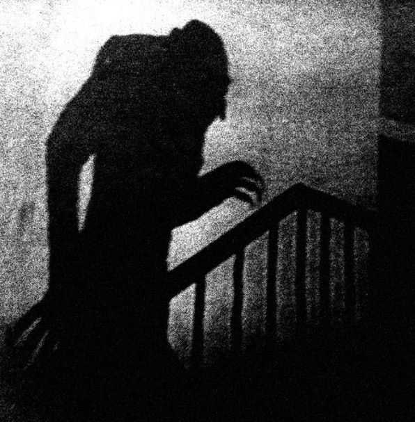 Nosferatu . This was a really creepy silent film. Even though it is a bit jerky and primitive to today's eyes . It still has really scary imagery.