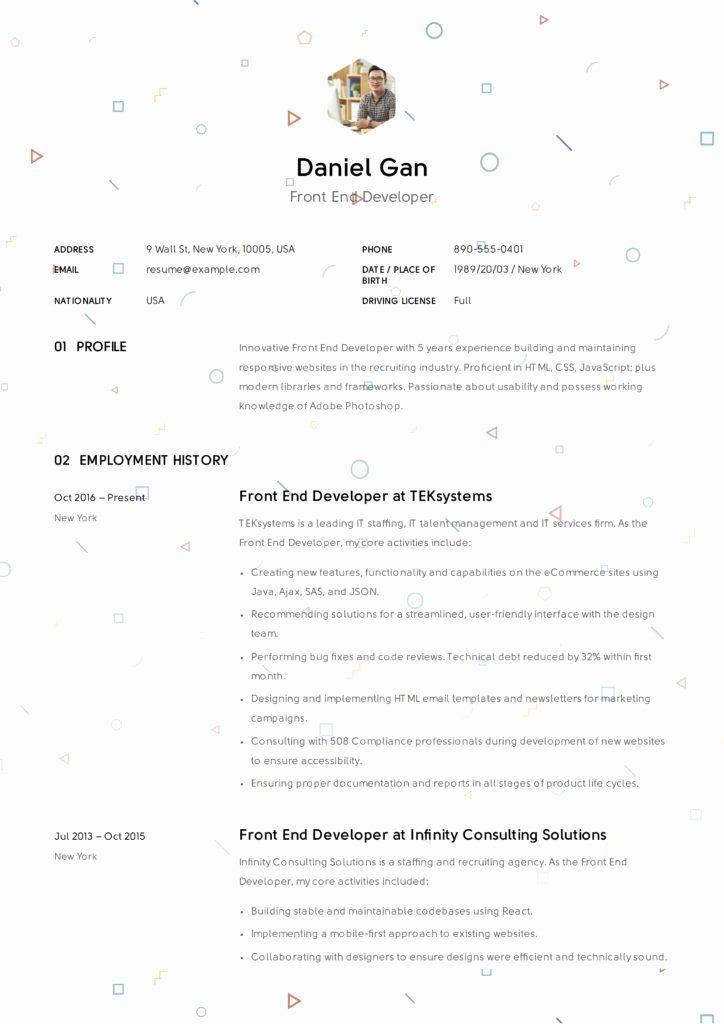 √ 25 front end developer resume template in 2020  resume