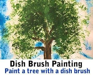 Painting with a Dish brush