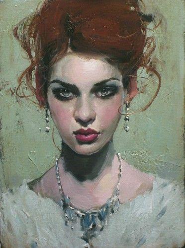 Malcolm Liepke, Gilded Girl 2014, oil on canvas