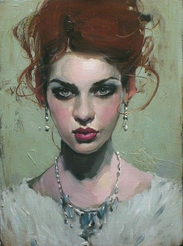 Malcolm Liepke, Gilded Girl 2014, oil on canvas