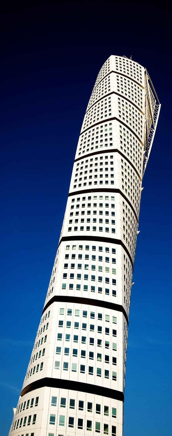 Turning Torso Building in Malmö, Sweden