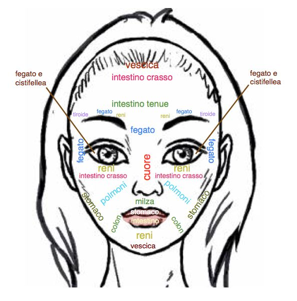 Lettura del viso: come identificare un malfunzionamento corporeo attraverso il viso.