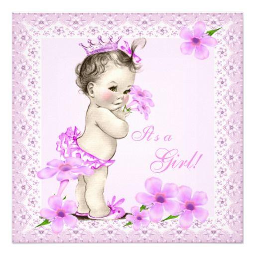 Floral cor-de-rosa bonito da menina do chá de