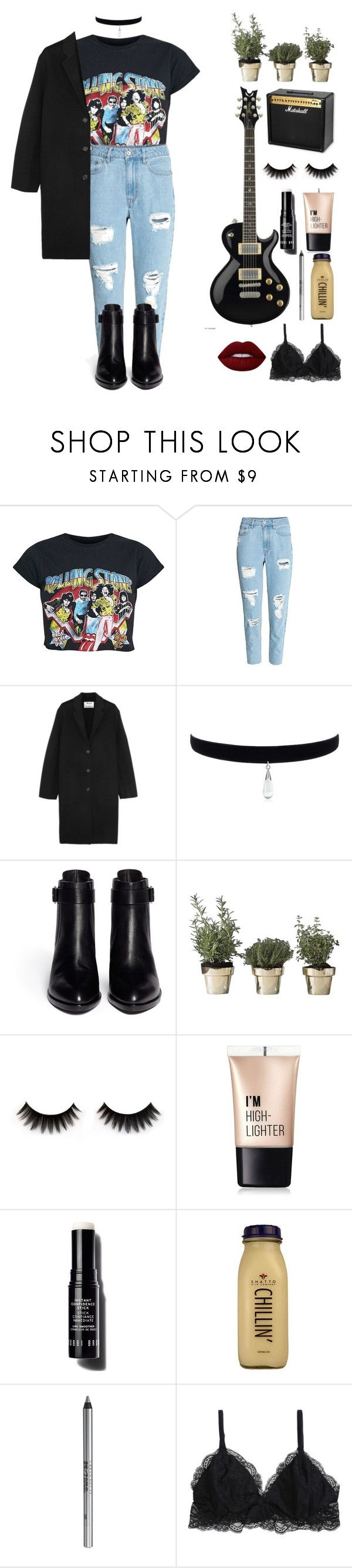 """The rolling stones"" by i-am-cool-girl ❤ liked on Polyvore featuring H&M, Acne Studios, Alexander Wang, Skultuna, Charlotte Russe, Bobbi Brown Cosmetics, CO, Urban Decay and Lime Crime"