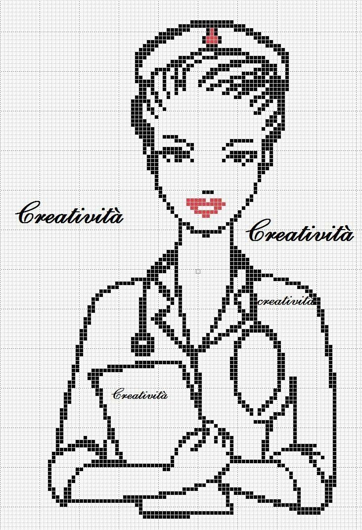 Nurse x-stitch pattern