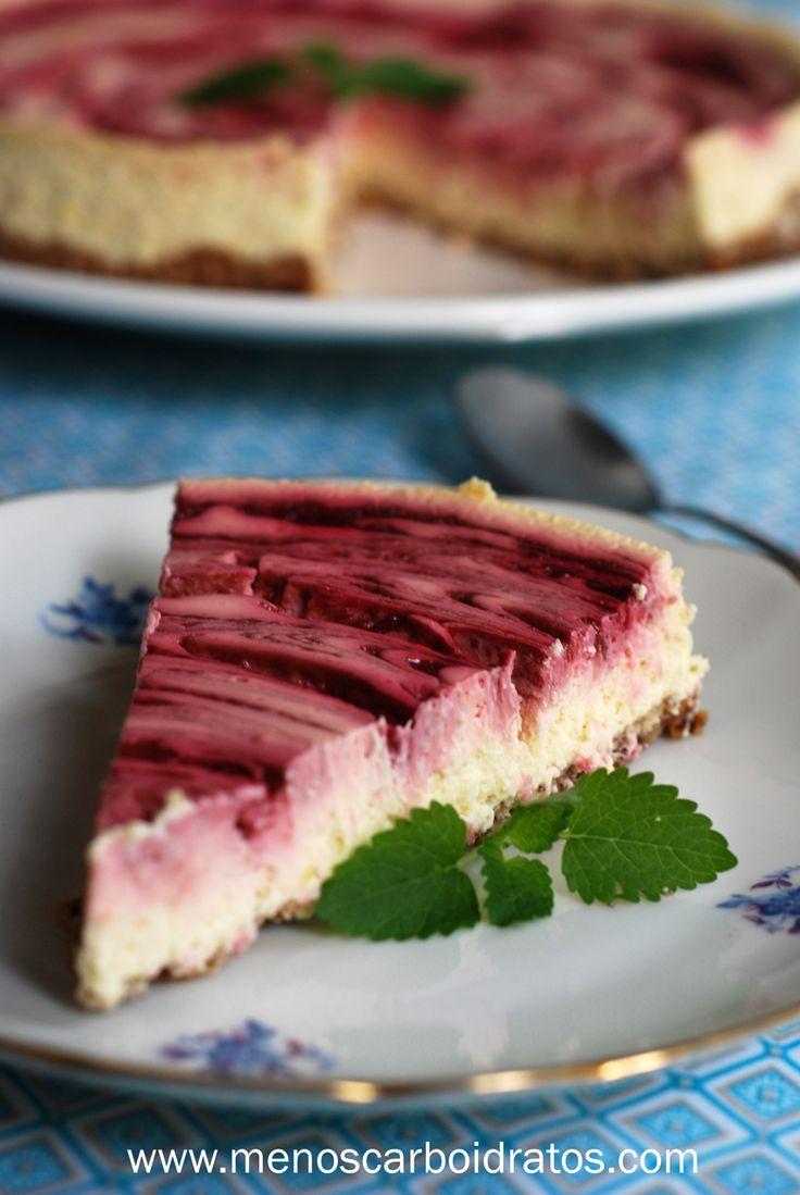 Cheesecake marmorizado – Sobremesa lowcarb com limão, framboesa e avelã | Mais gordura, menos carboidratos!