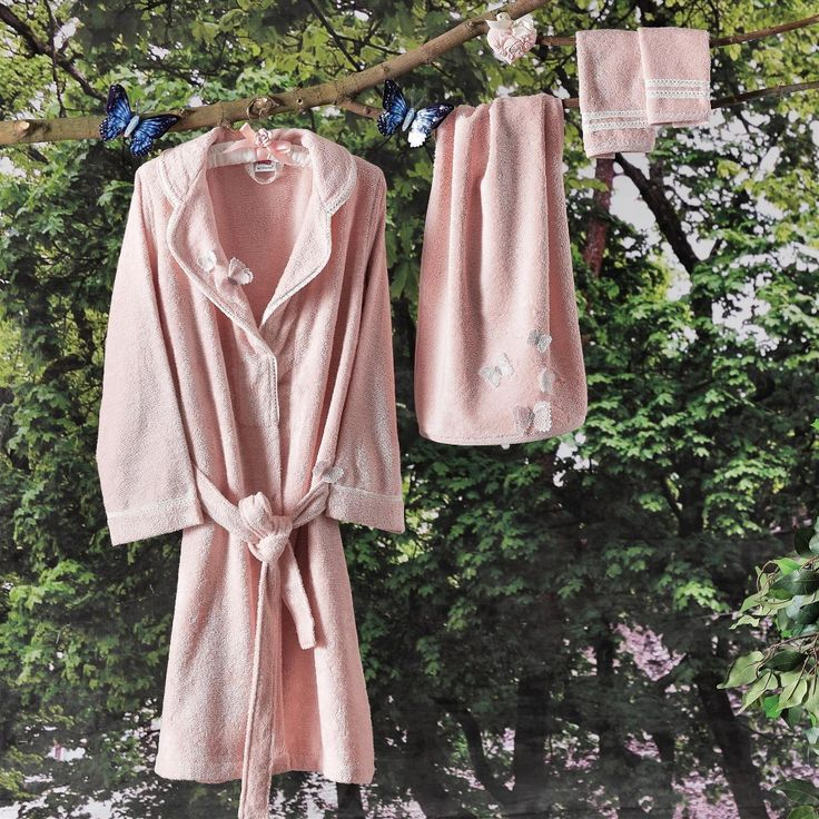 BUTTERFLY LUXURY BATHROBE SET, 7 PIECES