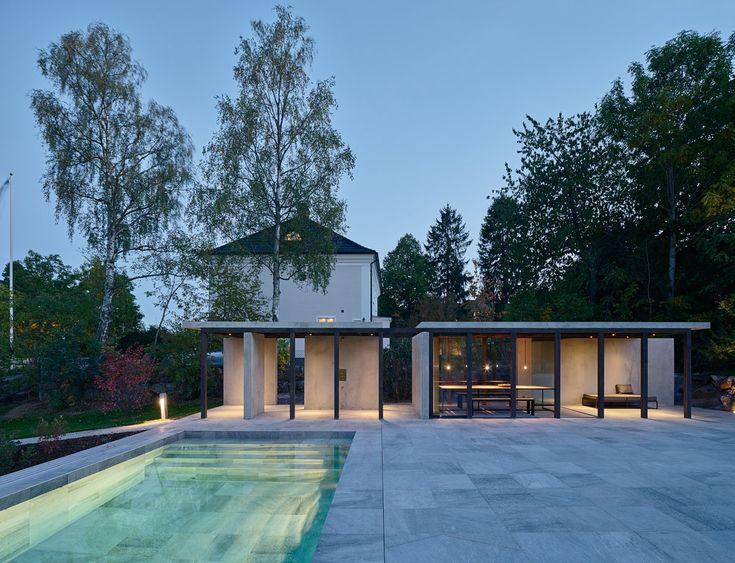 lowen widman arkitekter / gandul pool och poolhus, djursholm stockholm
