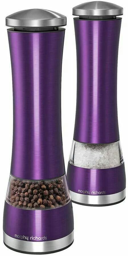 Purple salt shaker and pepper mill!