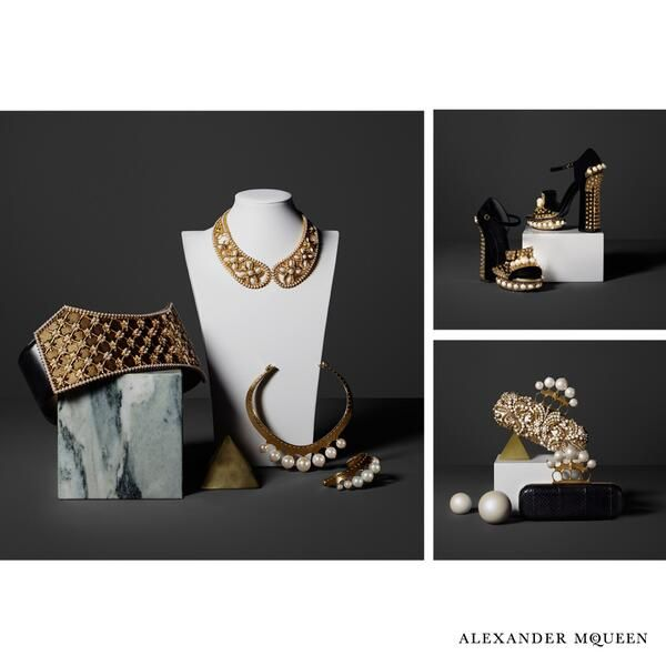 @Alexander Forsén Forsén McQueen: Pearl Accessories for Alexander McQueen Autumn/Winter 2013 for the Modern Gladiator