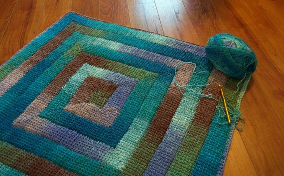 Simply Spiraled #Crochet Square or Rectangle pdf pattern. Make a dishcloth, afghan, baby blanket, rug as you wish. By the Hook Hound $5.99