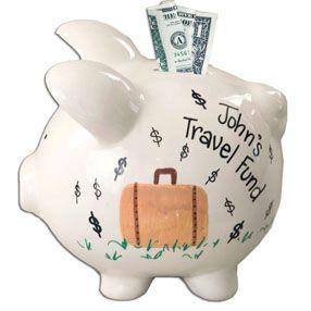 Travel fund piggy bank travel fund pinterest piggy banks for Travel fund piggy bank
