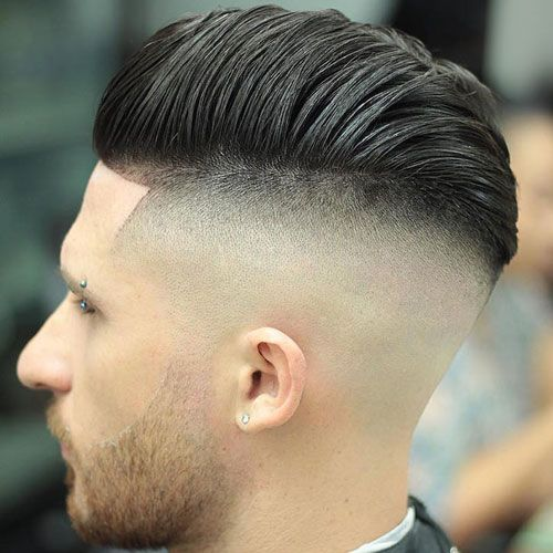 Cool Men's Haircut - Bald Undercut with Pompadour