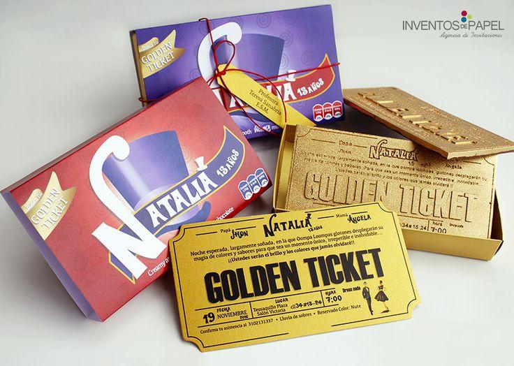 Invitacion 15 años Willy Wonka