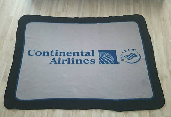 Check out this item in my Etsy shop https://www.etsy.com/listing/522903718/rare-vintage-continental-airlines-throw