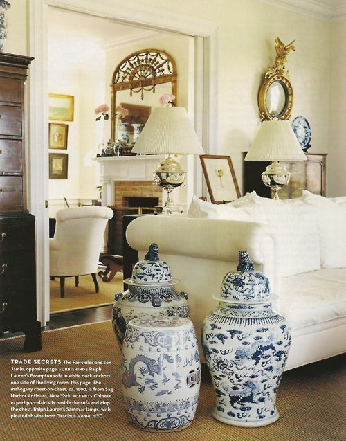 Lovely Blue and White Home Accessories