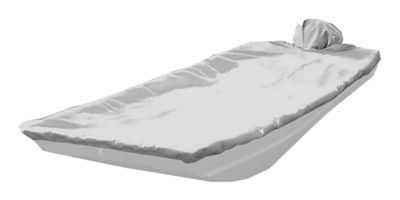 Taylor Made Trailerite Boat Covers for Square Bow Aluminum Bass Boats - Gray - 16'5'' to 17'4'' - 82""