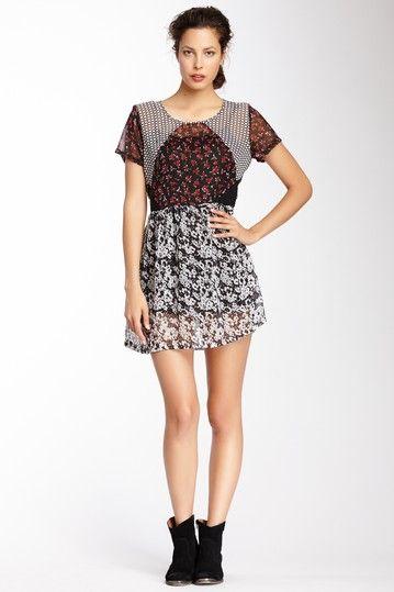Floral Grunge Babydoll Dress
