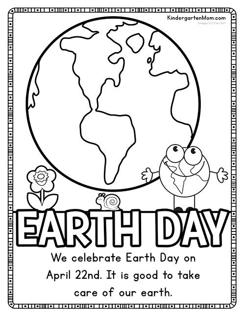 Free Earth Day Coloring Page Coloring Pages Earth Day
