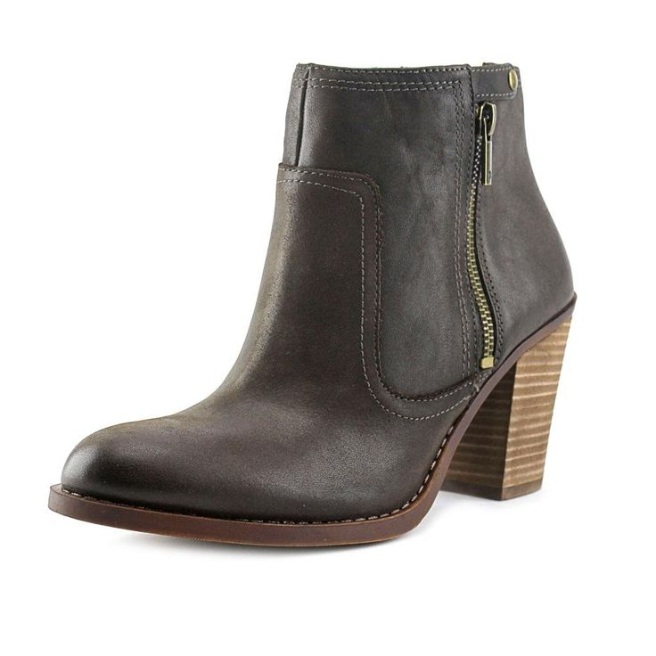 "Lucky Brand Eugina Women US 7 Brown Ankle Boot. The style name is Eugina. The style number is EUGINA-JAV. Brand Color: Java (Main Color: Brown). Material: Leather. Measurements: Shaft measures 4"", Circumference measures 10"" and 4.5"" heel. Width: B(M)."