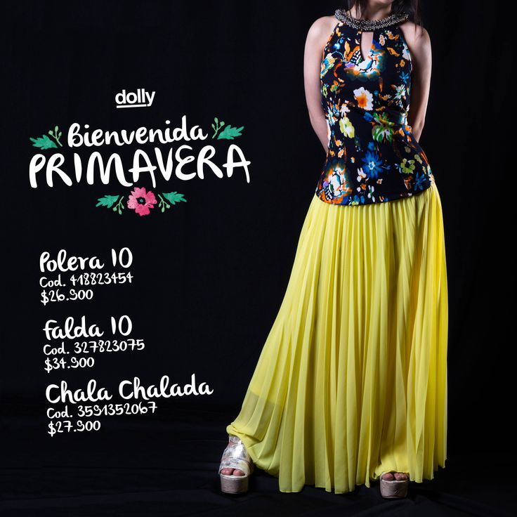Y a ti... Qué es lo que más te gusta de la primavera? #Dolly #puerto #montt #primavera #ropa #textil #mujer #falda #fashion #polera #tendencia