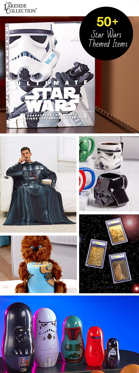 In a galaxy far far away…just kidding, Star Wars gifts aren't that far. Decorate your wall with Darth Vador's mask, drink from stormtrooper mugs, and lounge in style.