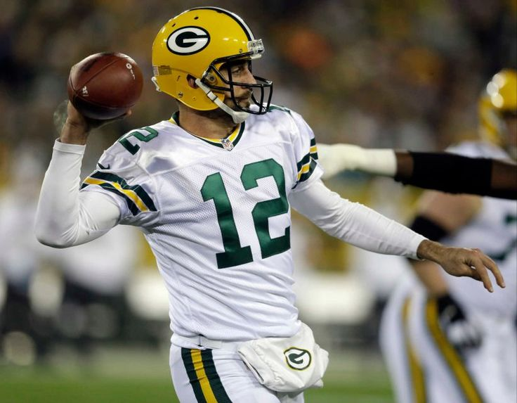 Thursday Night Football: Bears vs. Packers  -  October 20, 2016  -  26-10, Packers  - Green Bay Packers quarterback Aaron Rodgers (12) throws during the first half of an NFL football game against the Chicago Bears, Thursday, Oct. 20, 2016, in Green Bay, Wis.