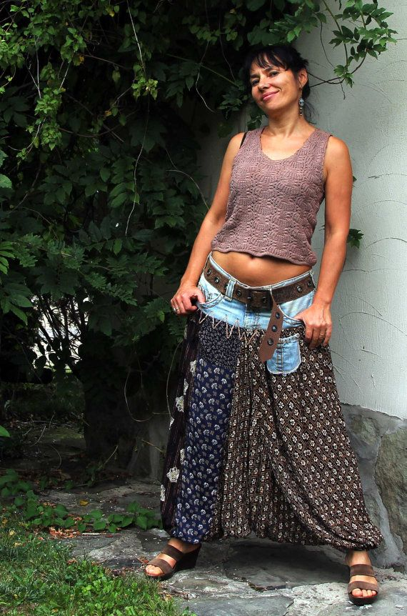 yoga harem alladyn jeans pants by jamfashion on Etsy