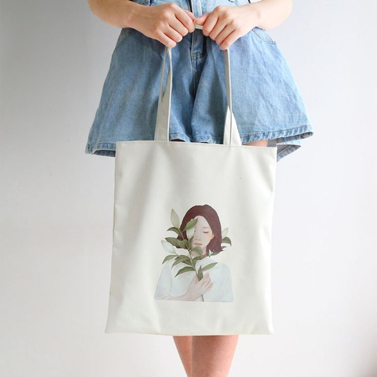 Buy Lamington Printed Canvas Shopper Bag | YesStyle