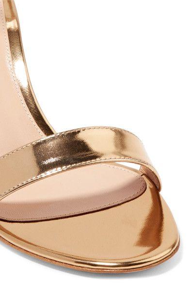Gianvito Rossi - Portofino Metallic Leather Sandals - Gold - IT39.5