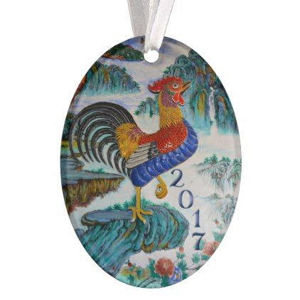 Chinese Year of the Rooster 2017 Optional Photo Ornament - photo gifts cyo photos personalize