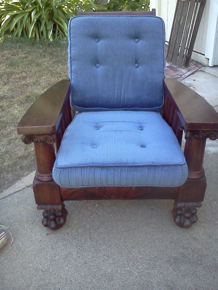 circa 1880u0027s 1890u0027s empire style mahogany Morris Chair recliner with paw feet. Sold. US & 119 best Antique Morris Chairs images on Pinterest | Morris chair ... islam-shia.org