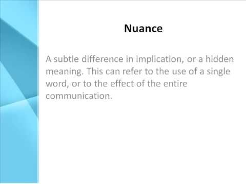 nuance defined - Google Search