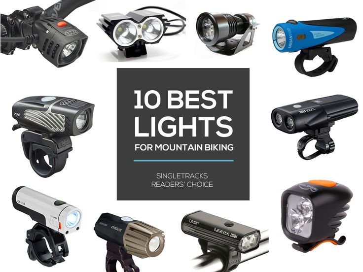 The 10 highest-voted mountain bike lights on the market today show the entire range of lights available for night riding. Many of these lights have seen significant upgrades since last year, with the NiteRider Lumina Micro 750 offering incredible performance at a low weight and affordable price.