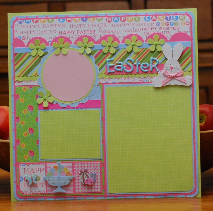 Easter scrapbook page by A Page