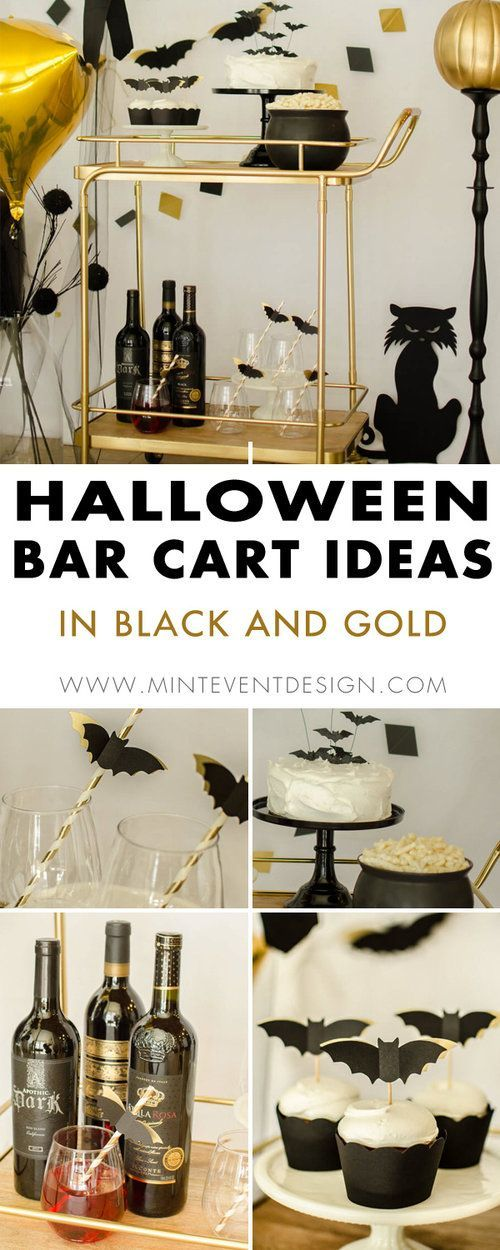 Halloween Bar Cart Styling Ideas in Black and Gold | Best of ... on outdoor ideas for kitchen, bar style kitchen, dorm room ideas for kitchen, pallet ideas for kitchen, lighting ideas for kitchen, bar kitchen countertops, wine rack ideas for kitchen, art ideas for kitchen, italy ideas for kitchen, fireplace ideas for kitchen, bar kitchen cabinets, backwash ideas for kitchen, bench ideas for kitchen, french door ideas for kitchen, large kitchen ideas for kitchen, bar ideas home, tv ideas for kitchen, closet ideas for kitchen,