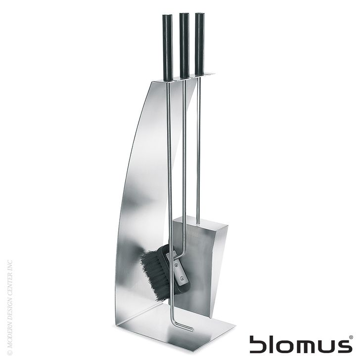 Blomus Chimo 4pc Fireplace Set Bow Front